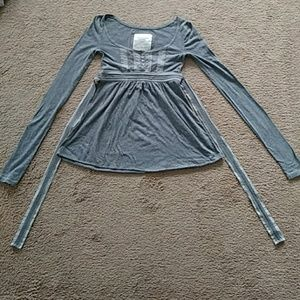 Abercrombie & Fitch Gray Top